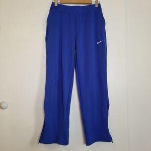 Nike Dri Fit Blue Track Pants Zip Legs